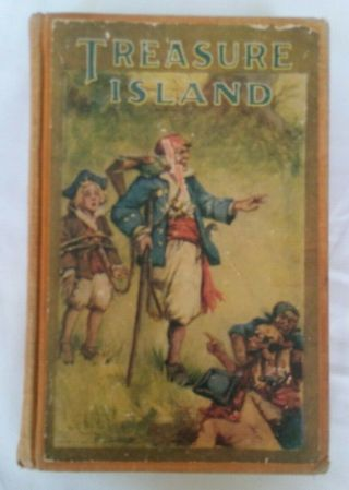 Treasure Island By Robert Louis Stevenson - Saalfield Publishing 1920s Vintage