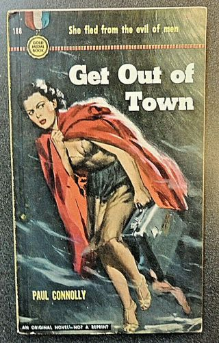 Get Out Of Town Vintage Paperback Risque Mystery Fiction Paul Connolly