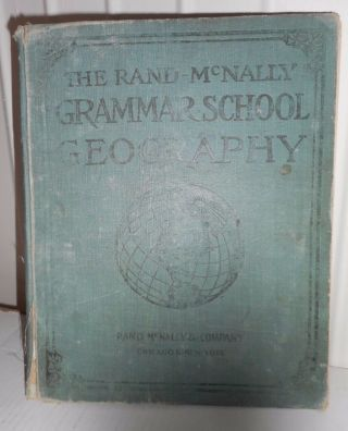 1913 Revised Rand - Mcnally Geographical Series Grammar School Geography J Bowen