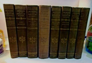 Memoirs Of The Courts Of Europe 8 Volumes 1910 Hc Pf Collier & Son