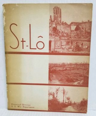 St - Lo 1946 Wwii U.  S.  War Department Historical District Book W Vintage Maps