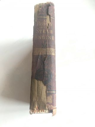 Vintage Book 'growth Of The Steam Engine' By Robert H.  Thurston,  A.  M. ,  C.  E.  1878