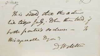 Daniel Webster / Autograph Note Signed D Webster