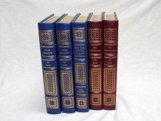 Easton Press Ayn Rand - Atlas Shrugged,  Fountainhead,  & We The Living - 5 Volume