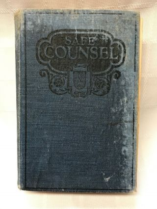 Vtg Safe Counsel On Practical Eugenics C.  1925 By Jefferis/nichols Story Of Life