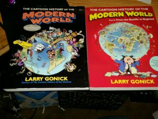 The Cartoon History Of The Modern World Part 1 & 2 Larry Gonick