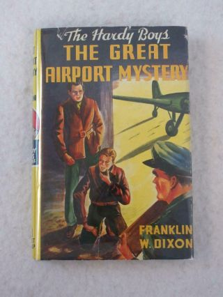 Franklin Dixon The Great Airport Mystery Hardy Boys 9 Grosset & Dunlap Reprint