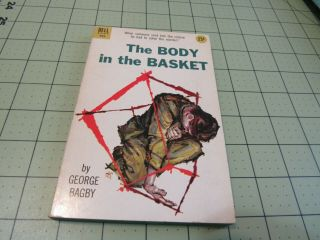 The Body In The Basket By George Bagby Vintage Dell Pulp Era Crime Pb