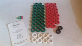 Vtg Carrom Board Game The Carrom Company 64pcs Black Red Green White Book Rings