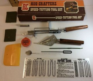 Vintage Rug Crafters Speed Tufting Tool Set & Instructions