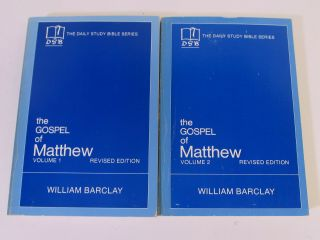 Daily Study Bible Matthew William Barclay Vol 1 & 2 Paperback Vintage Commentary