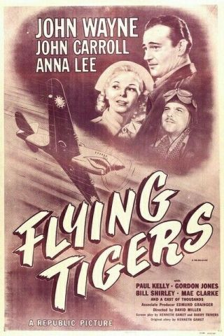Movie 16mm The Flying Tigers Feature Vintage Drama 1942 Film John Wayne Ww2