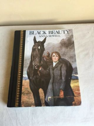 Vintage 1986 Hc Illustrated Classic Black Beauty Anna Sewell Childrens Classic