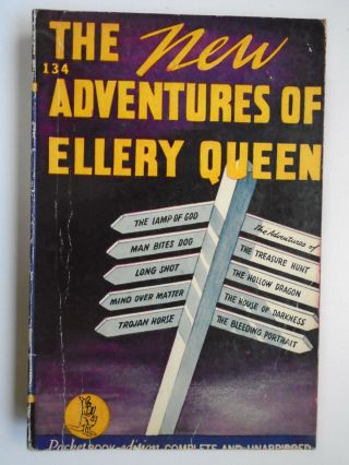 The Adventures Of Ellery Queen,  Pocket Paperback,  9th Print,  1943