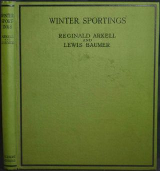 Winter Sportings Arkell 1929 Lewis Baumer Colour Illustration Skiing Switzerland