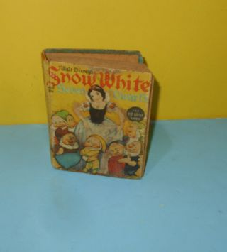 "Disney Snow White The Big Little Book 1938 Whitman 4 "" Book In Need Of Repair"