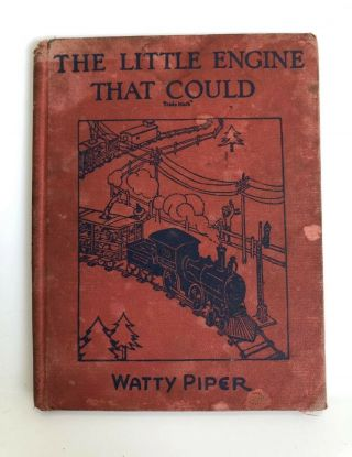 Vintage The Little Engine That Could Hardback 1930 / Watty Piper / Platt Munk Co