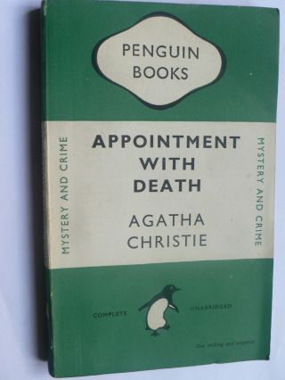 Agatha Christie.  Appointment With Death.  Penguin 1st 1948.  Hercule Poirot