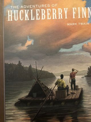 The Adventures Of Huckleberry Finn,  Mark Twain.  Hardcover.