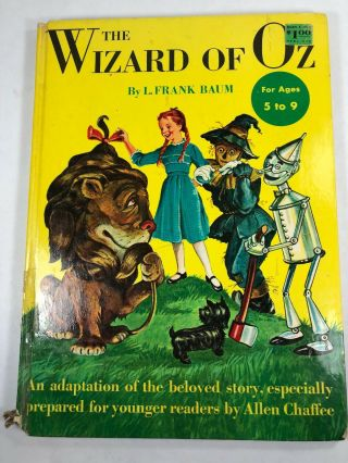 The Wizard Of Oz - 1950 - L.  Frank Baum Adapted By Allen Chaffee Illustrated Hc