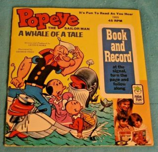Popeye The Sailor Man Peter Pan Book & Record 1969 Vintage