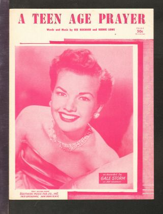 Teen Age Prayer 1955 Gale Storm Vintage Sheet Music Q22