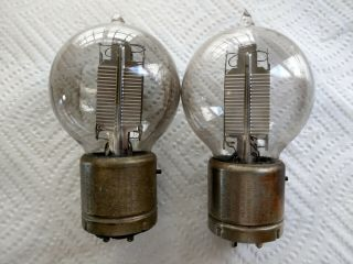 Pair (2) Western Electric 216 - A Vacuum Tubes For We 7a Amplifier - Good Filament