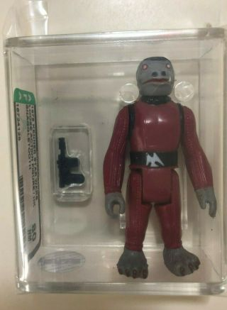 Vintage Star Wars 1978 Kenner Red Snaggletooth Afa 80 Loose Hk