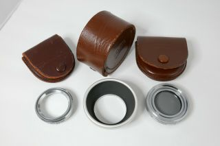 Vintage Zeiss Ikon Filter And Hood Set For Contaflex Ii,  Other; Contapol,  Proxar