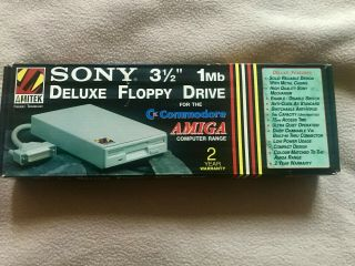 Commodore Amiga Amitek Sony External Slim Disk Drive Nib Best Drive Made