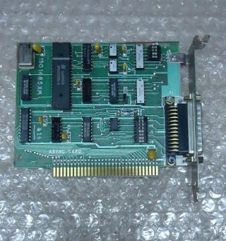 Vintage 1986 Ibm 1501485xm 8 - Bit Isa Async Card,  Db25 Serial Port For Pc Or Xt