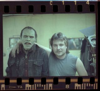 Ha12f Vintage Day Of The Dead George Romero Makeup Artist Actor Negative Photo