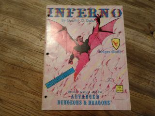 Vintage Ad&d Judges Guild Inferno Module 1980 Dungeons & Dragons