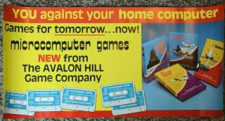 Vintage Avalon Hill Microcomputer Games Advertising Poster Trs - 80 Apple Ii & Pet