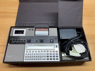 Sharp Pc - 1251 Pocket Computer With Printer Cassette Interface