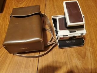 Polaroid Sx - 70 Land Camera Model 2 With Leather Case