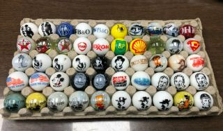 "50 Ea Vintage 1 "" Shooter Marbles (advertising,  Celebrity,  Railrodiana)"