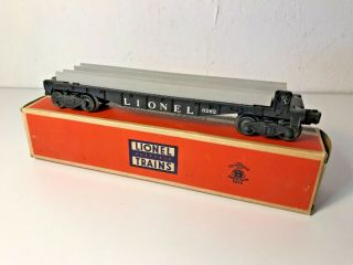 Vintage Lionel Postwar 6262 Wheel Car With Box