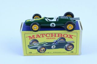 Vintage Matchbox 19 Lotus Racing Car