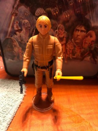 Vintage Star Wars Bespin Luke Skywalker With Kenner Saber And Blaster