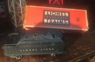 Vintage Post War 1946 - 49 Lionel Trains Early Coal Tender 2466 Wx W/box