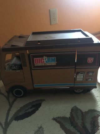 Vintage 1971 Mattel Big Jim Sports Camper Camping Vehicle Rv Toy
