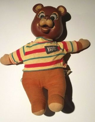Vintage Talking Biff The Bear By Mattel Pull String Talking Teddy Bear