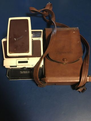 Polaroid Sx - 70 Land Camera,  Model 2,  With Leather Case