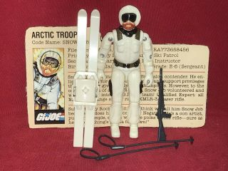 1983 Vintage Gi Joe. .  Snow Job 100 Complete