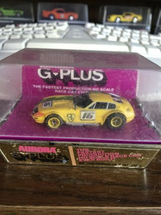 Vintage Aurora G Plus Slot Car 1736 Ferrari Daytona Coupe