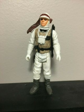 Star Wars Vintage Kenner Luke Skywalker Hoth W/original Weapon 1981