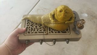 Vintage Star Wars Jabba The Hutt Playset 1983 With Hookah.  No Sala Crumb : - (