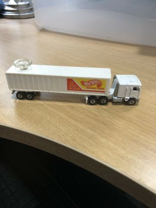Hot Wheels Vintage Steering Rigs Kenworth Hot Wheels Racing Team Semi Truck.