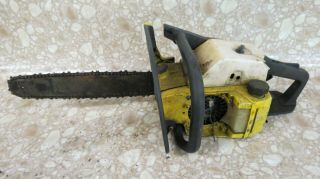 Vintage Mcculloch Pro Mac 610 Chainsaw Chain Saw Solid State Ignition Parts